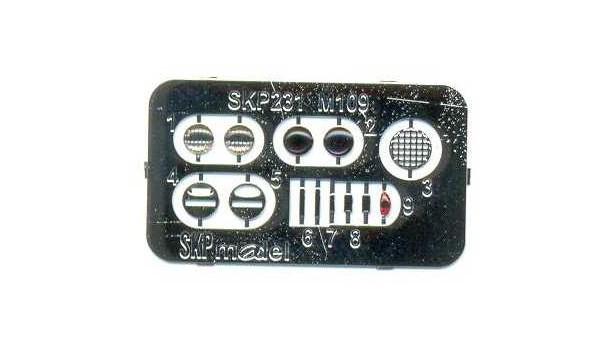 Neue Linsen und Rücklichter von SKP für die M109 von AFV-Club