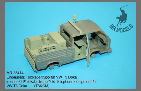 MR Modellbau: Umbausatz Feldkabelbautrupp für VW T3 Doka
