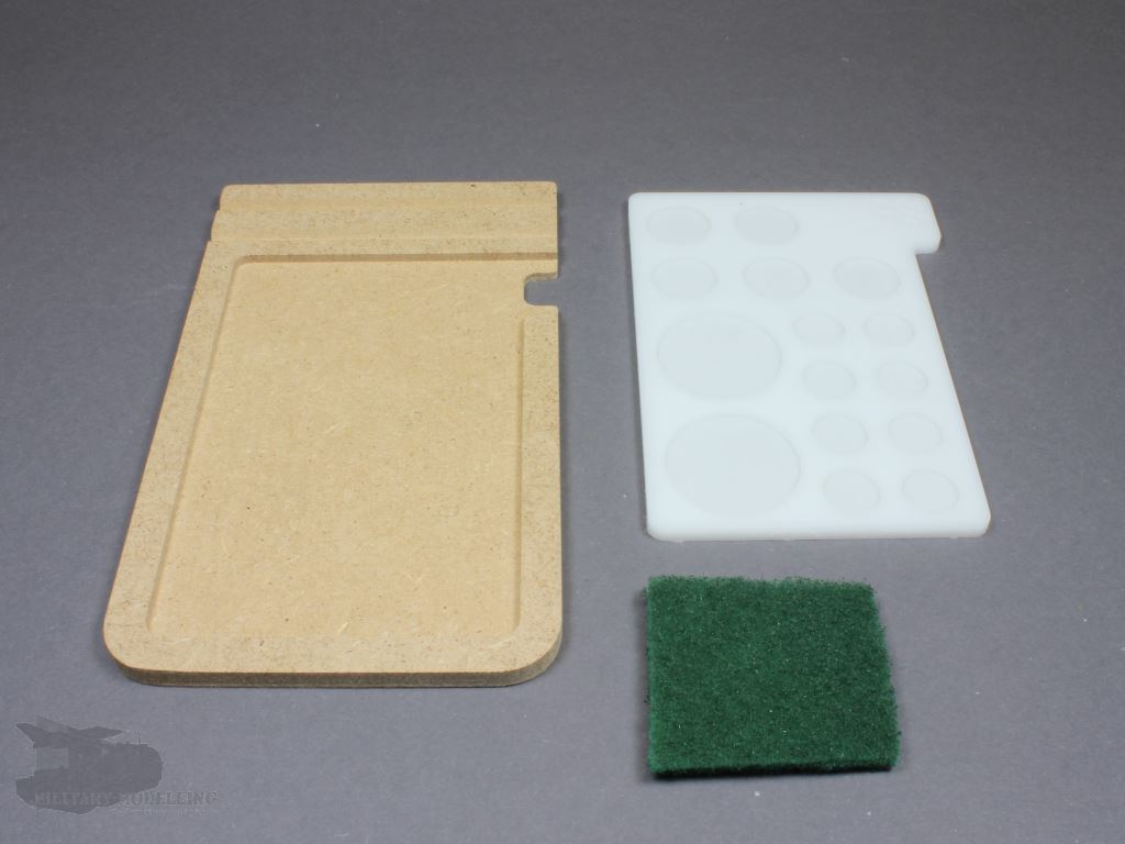 hobbyzone paint stand brushes holder paint palette. Black Bedroom Furniture Sets. Home Design Ideas
