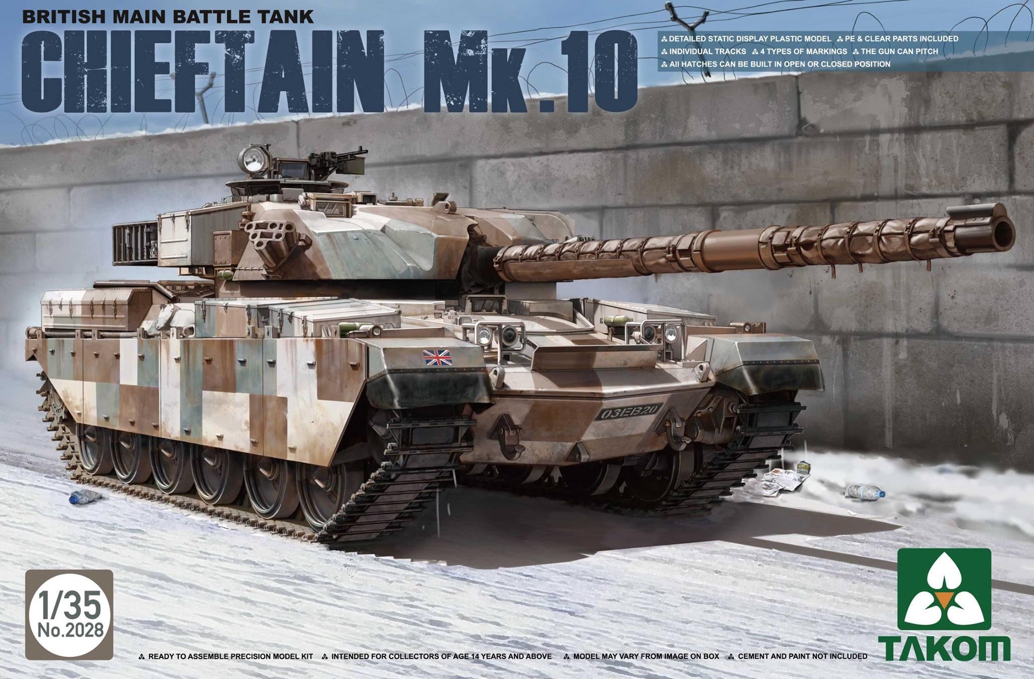 Chieftain MK5, MK10, MK11 Boxart's von TAKOM