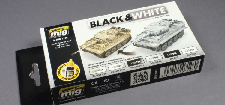 AMMO of Mig: Black & White Technique Set