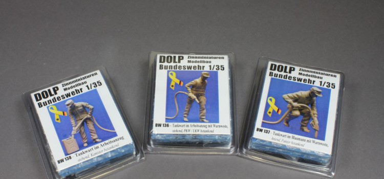 Dolp Modellbau: BW136, BW137, BW138 – Tankwart Figuren in 1:35