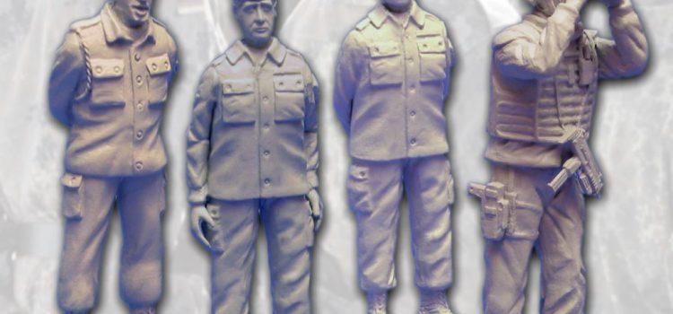 Dolp Modellbau: BW139-BW142 – Soldat mit Schulterschnur, im Rührt Euch und Beobachter