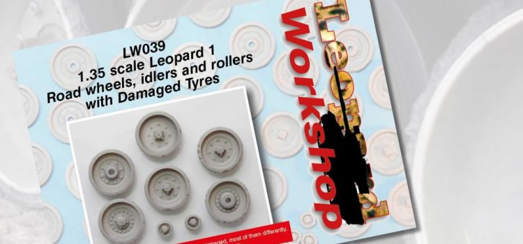 Leopard Workshop: Road Wheels, Idlers and Rollers with damaged Tyres