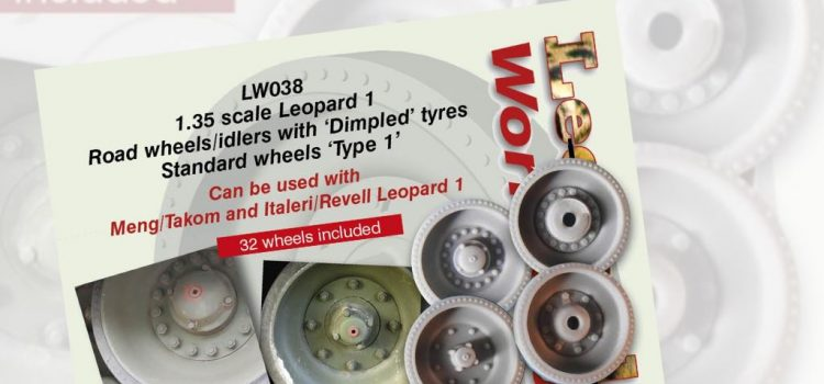 "Leopard Workshop: Leopard 1 Road wheels/idlers with ""Dimpled"" tyres"