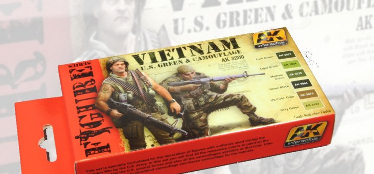AK Interactive: VIETNAM U.S. GREEN & CAMOUFLAGE Colors Set
