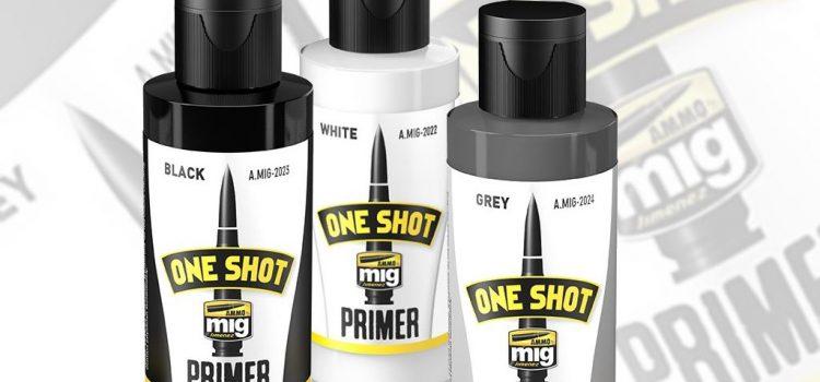 AMMO of Mig: One Shot Primer – black, grey, white