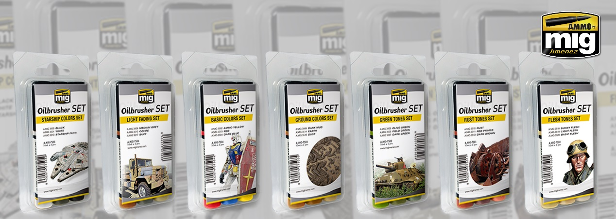 AMMO by Mig: Oilbrusher Sets