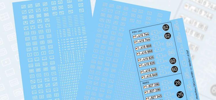 Perfect Scale Modellbau: Decals – Taktische Zeichen und ArtBtl 131