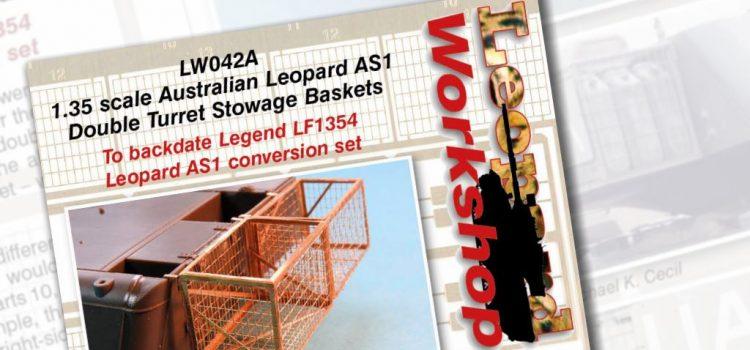 Leopard Workshop: 1:35 scale Australian Leopard AS1 Turret Stowage Baskets
