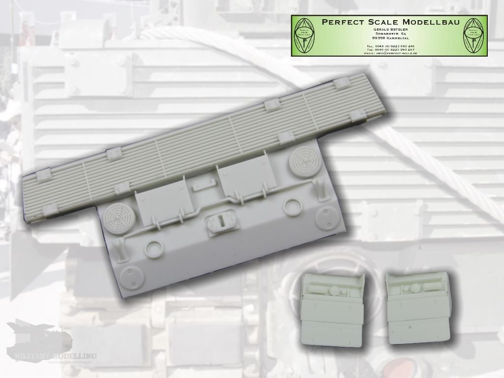 Perfect Scale Modellbau: Leopard 2A4M CAN Heckplatte