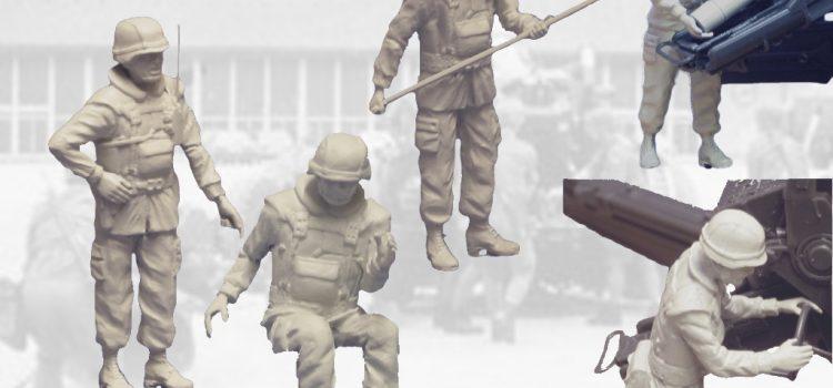 DOLP Modellbau: Figuren als Geschützbesatzung FH70 – Teil 1