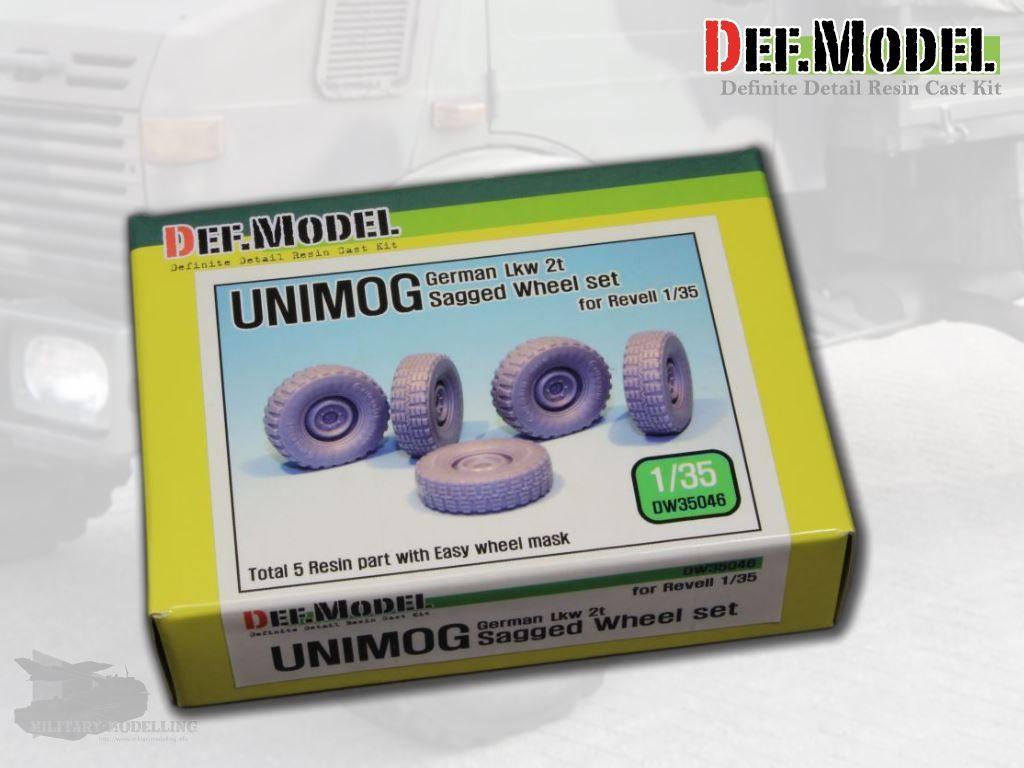 Def.Model: Unimog German LKW 2t Sagged Wheel set