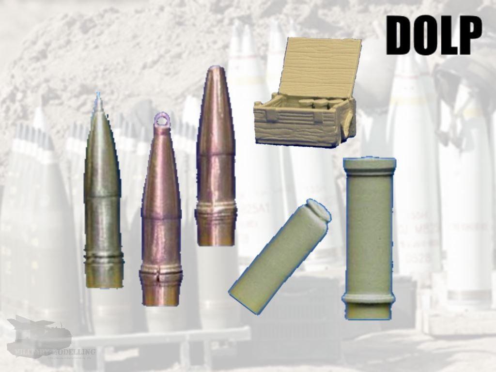DOLP Modellbau: 155mm Munition-Set's