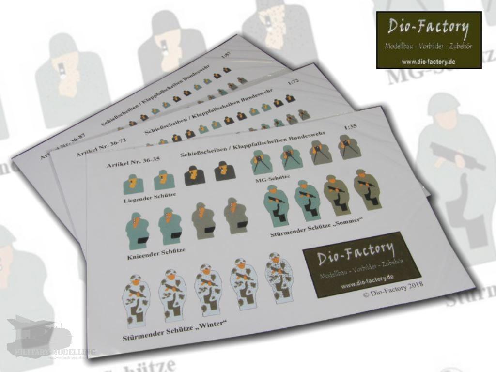 Dio-Factory: Schießscheiben / Klappfallscheiben Bundeswehr