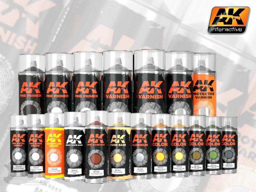 AK Interactive: Sprays