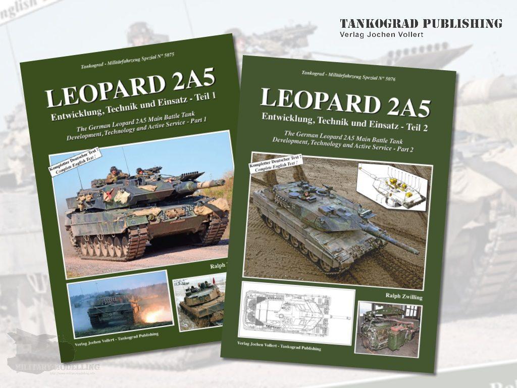 Tankograd Publishing: Militärfahrzeug Spezial Nr. 5075 und 5076 – Leopard 2A5 Teil 1 und 2