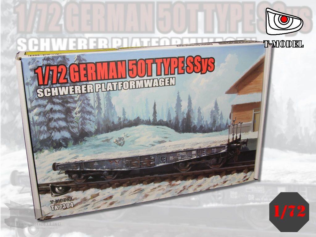 T-MODEL: 50 tons Type SSys Schwerer Plattformwagen