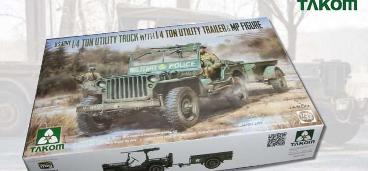 TAKOM: U.S. Army ¼ ton Utility Truck with ¼ ton Utility Trailer & MP