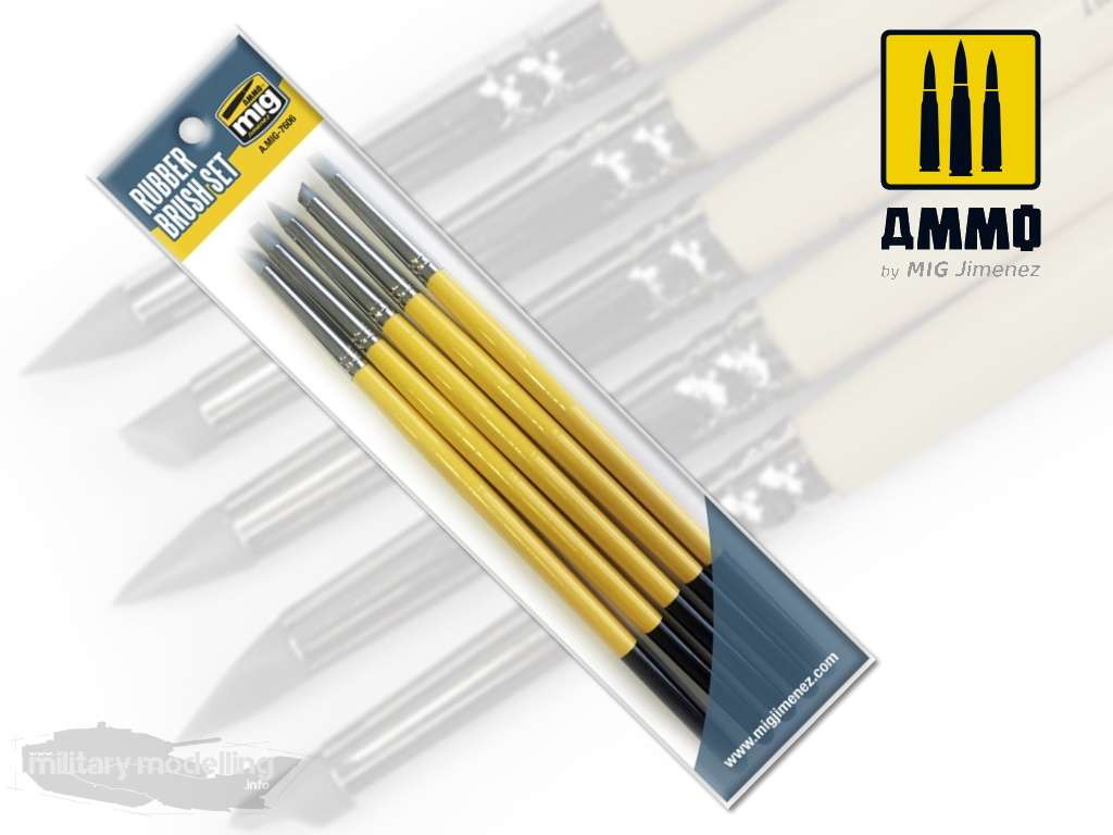 AMMO by Mig: Rubber Brush Set