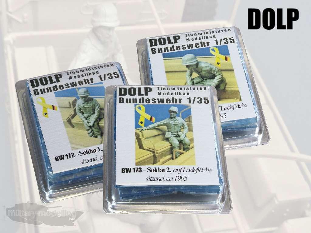 DOLP Modellbau: Soldaten auf Ladefläche sitzend