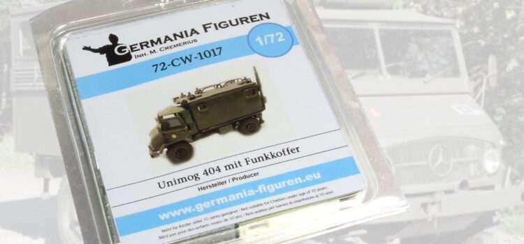 Germania Figuren: Unimog 404 mit Funkkoffer