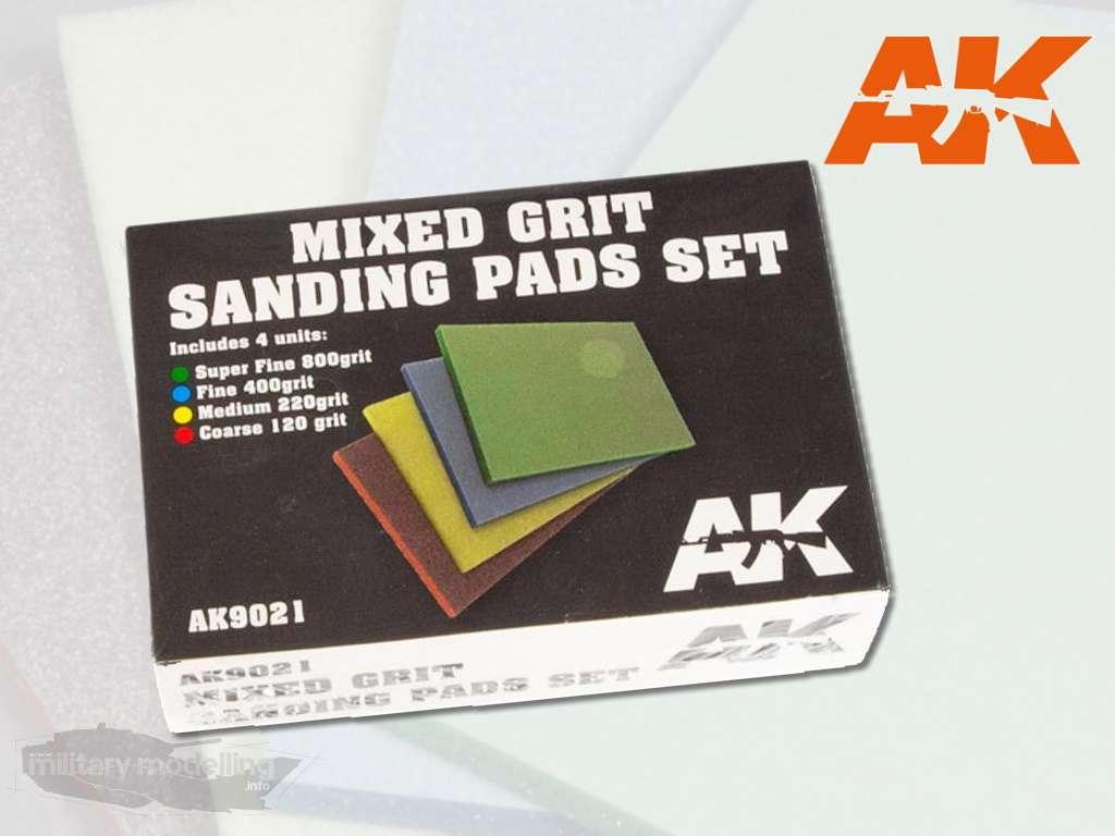 AK Interactive: Mixed Grit Sanding Pad Set