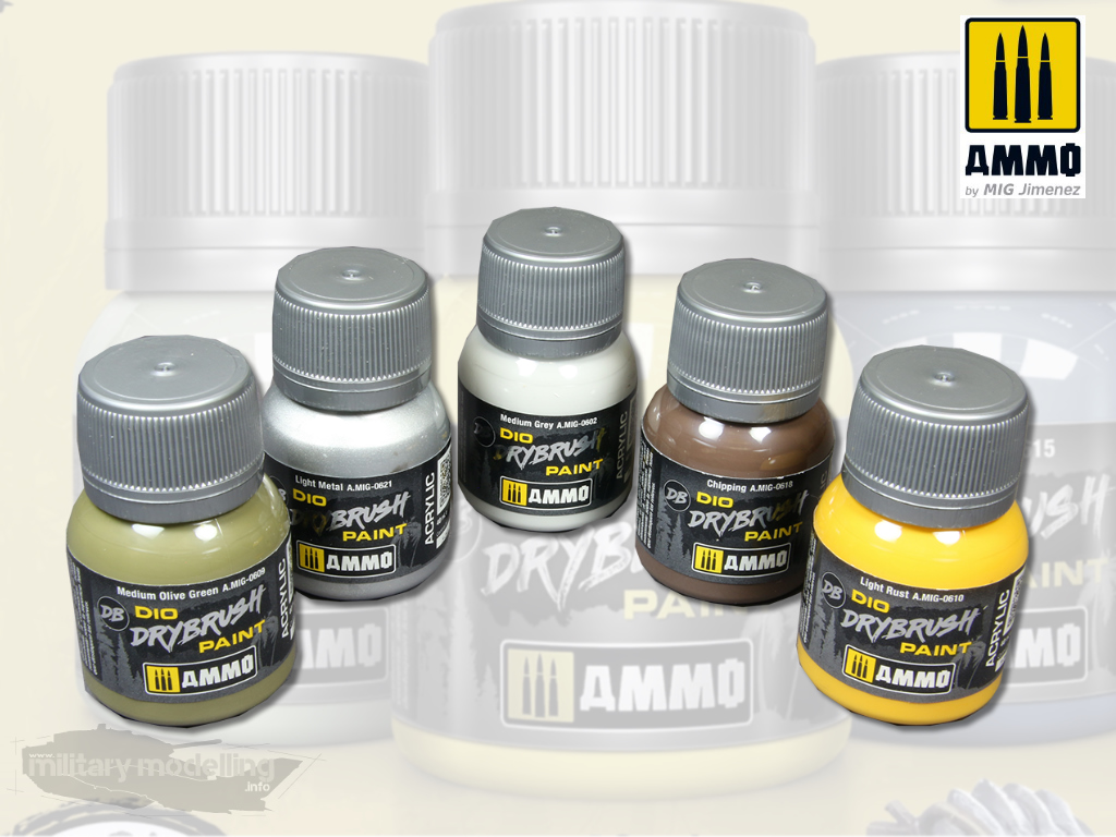 AMMO by Mig: DIO Drybrush Paint