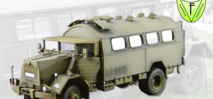 Perfect Scale Modellbau: MAN 630 L2A Feldküche mit Inneneinrichtung